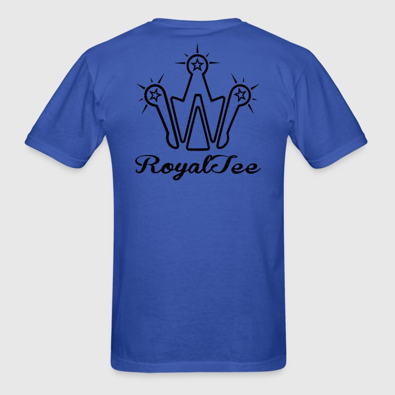 REAL CALIFORNIA GEEZ/light blu, wht on royal blu - Men's T-Shirt