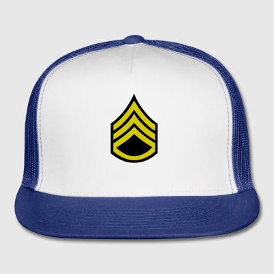 army military button rank STAFF SERGEANT - Trucker Cap