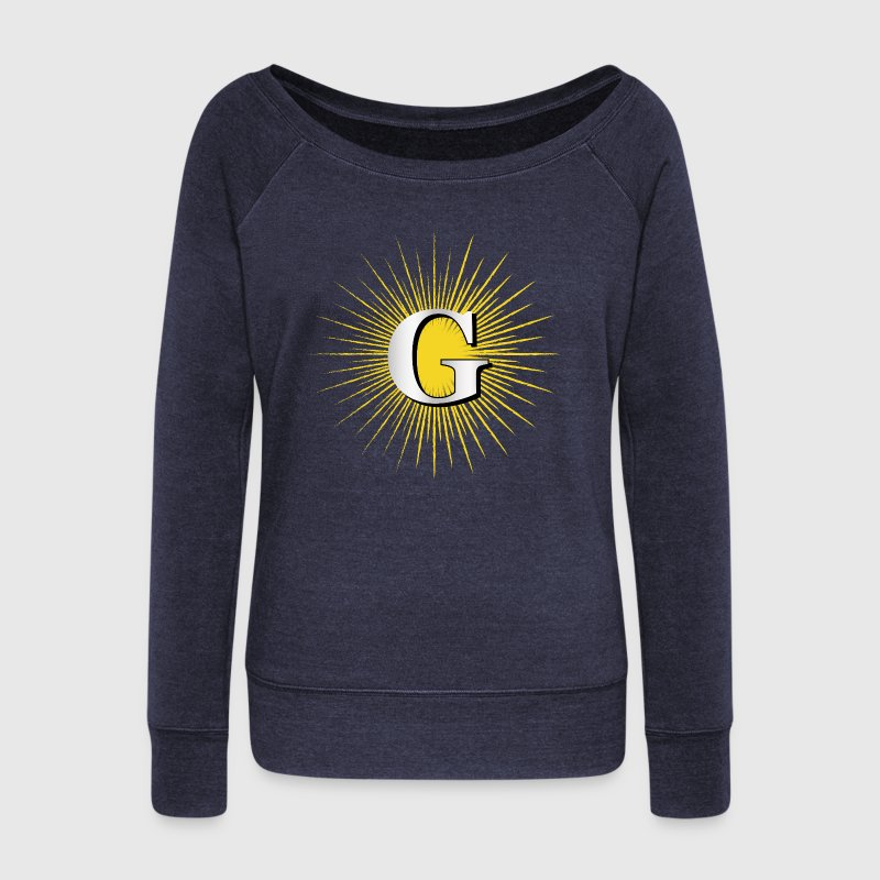 Letter G – masonic symbol Long Sleeve Shirts - Women's Wideneck Sweatshirt