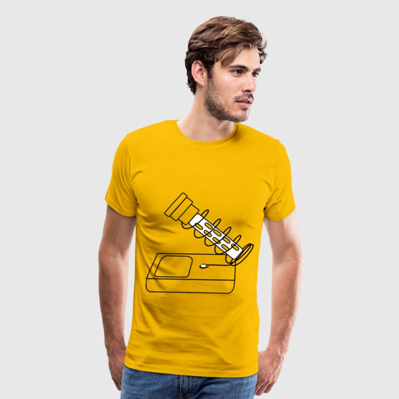 tool soldering iron stand drawing coloring - Men's Premium T-Shirt