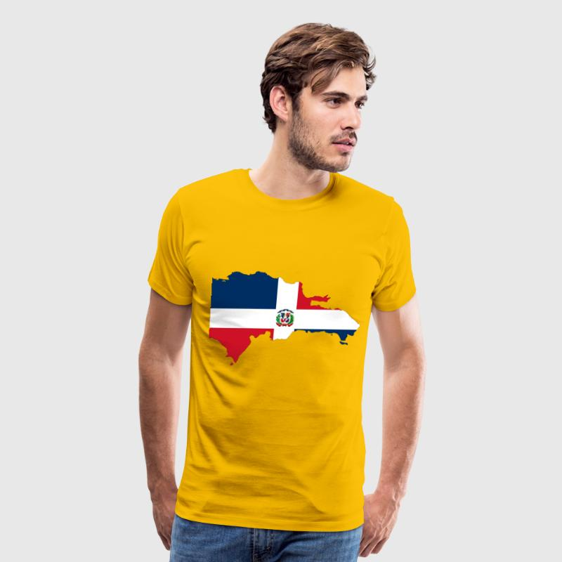 Dominican Republic Map Flag - Men's Premium T-Shirt