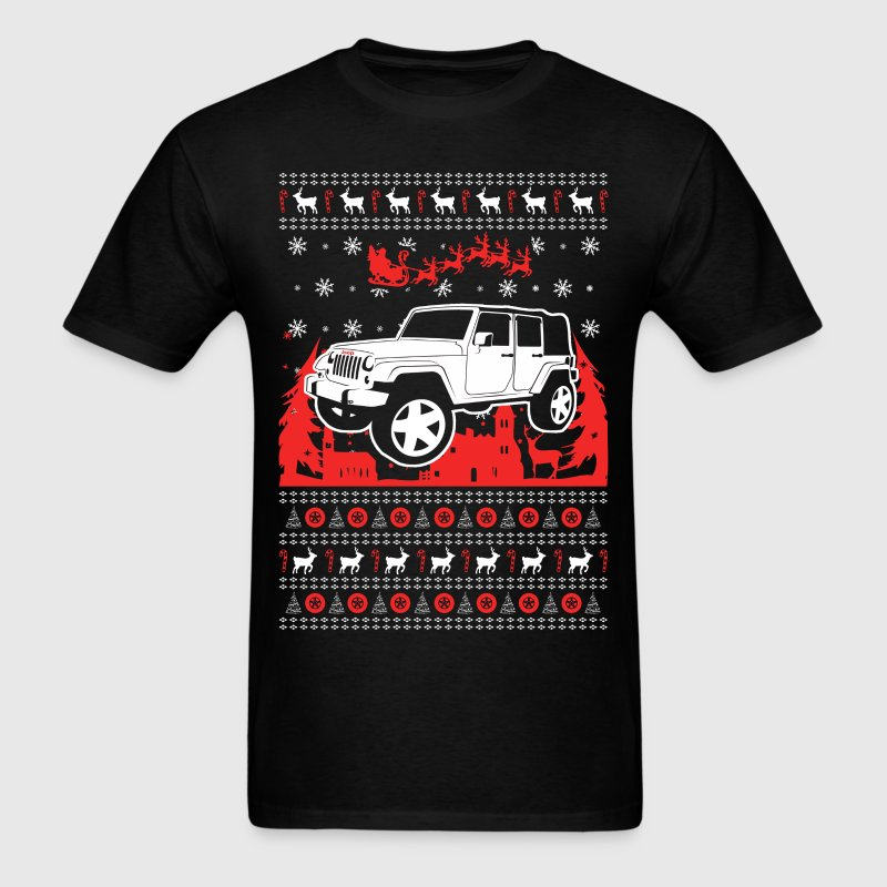 Jeep Ugly Christmas Sweater - Men's T-Shirt