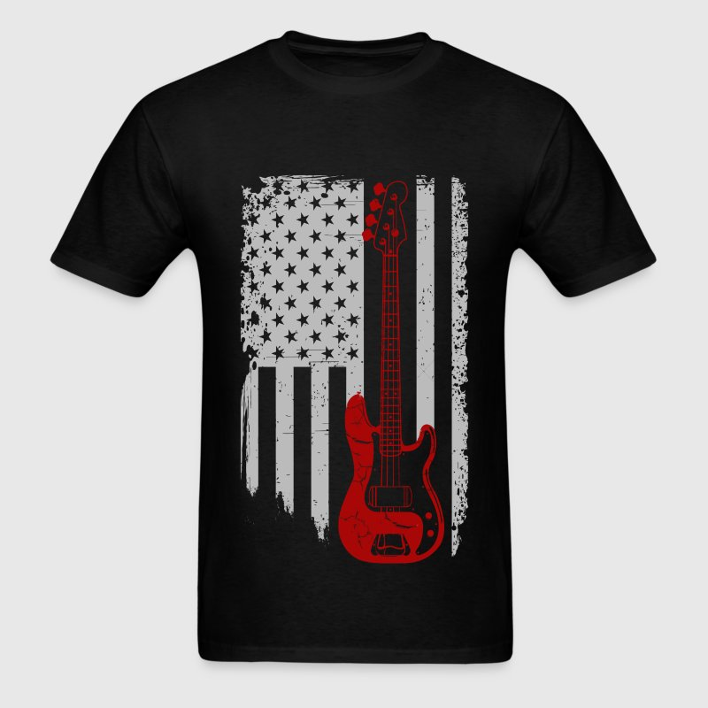 Bass guitar - American Bass guitar lover - Men's T-Shirt