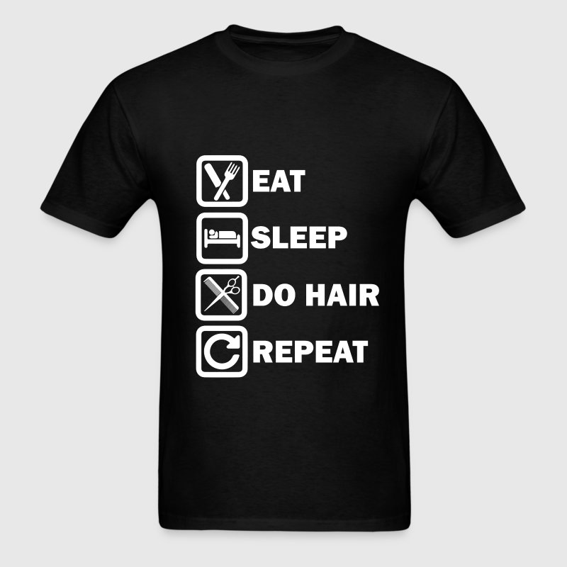 Hairdresser - Daily routine simple for hair styli - Men's T-Shirt