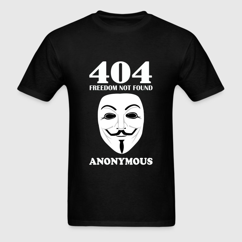 Anonymous hacker - 404 freedom not found - Men's T-Shirt