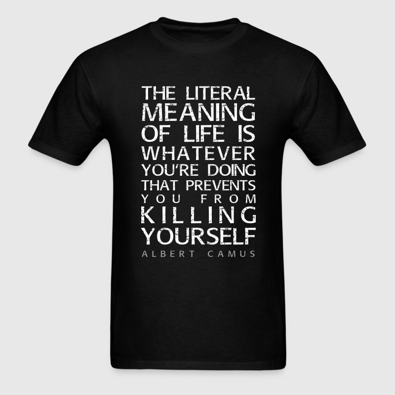 Camus and the meaning of life - Men's T-Shirt
