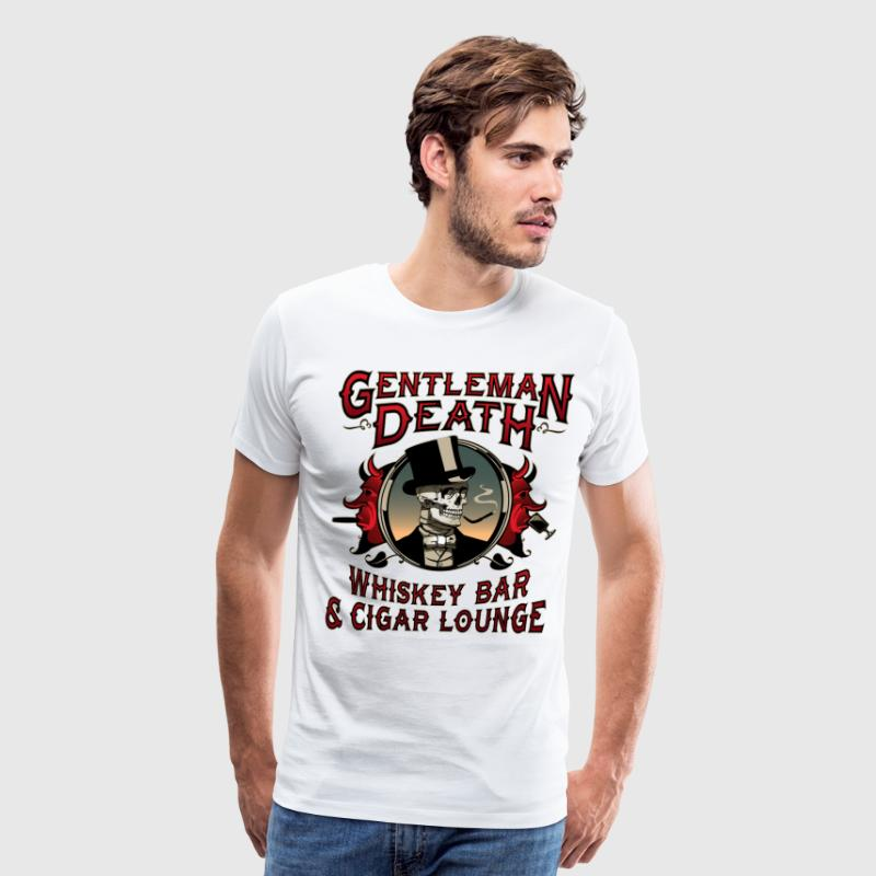 Gentleman Death Whiskey Bar & Cigar Lounge - Men's Premium T-Shirt
