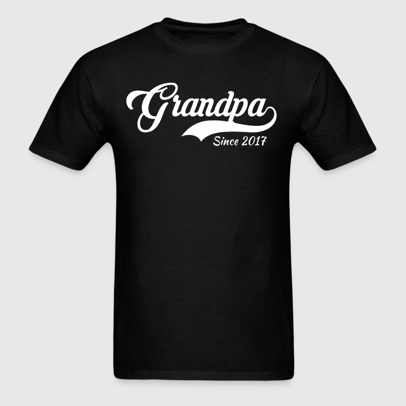 Grandpa Since 2017 T-Shirt T-Shirts - Men's T-Shirt