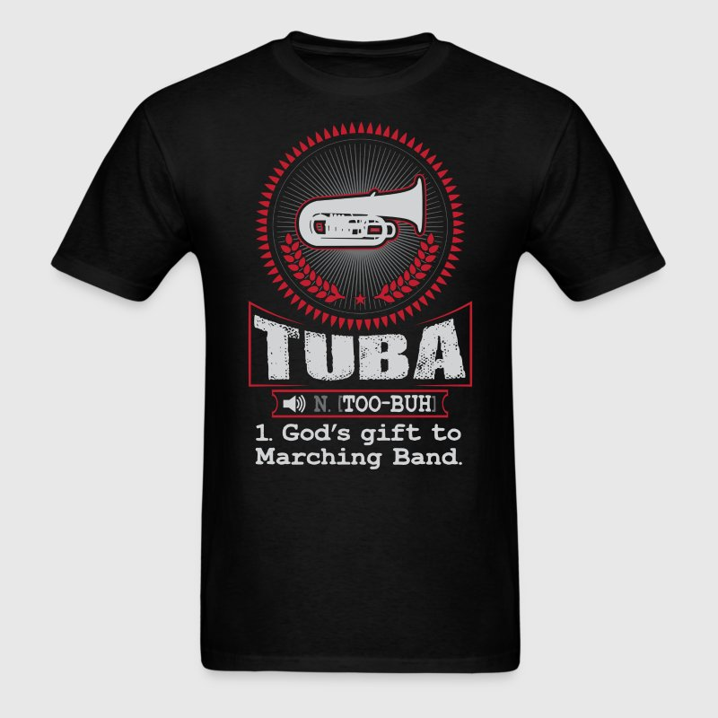 Tuba god 39 s gift to marching band t shirt t shirt spreadshirt for Band t shirt designs for sale