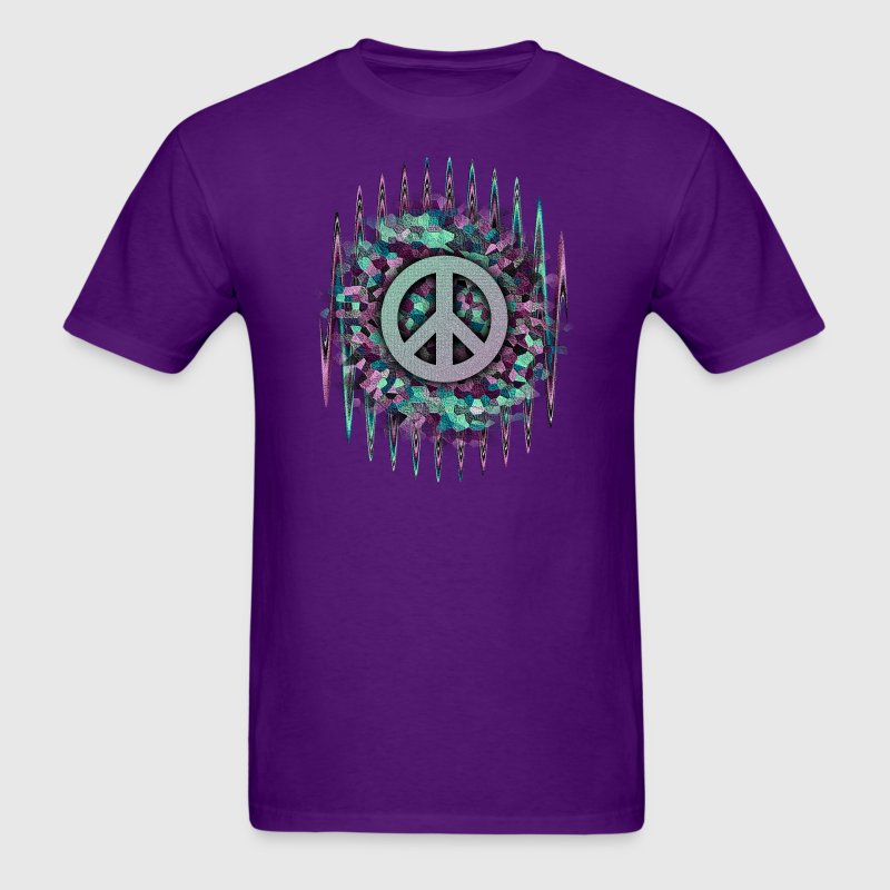 Hippie pease love music t shirt spreadshirt for Hippie t shirts australia