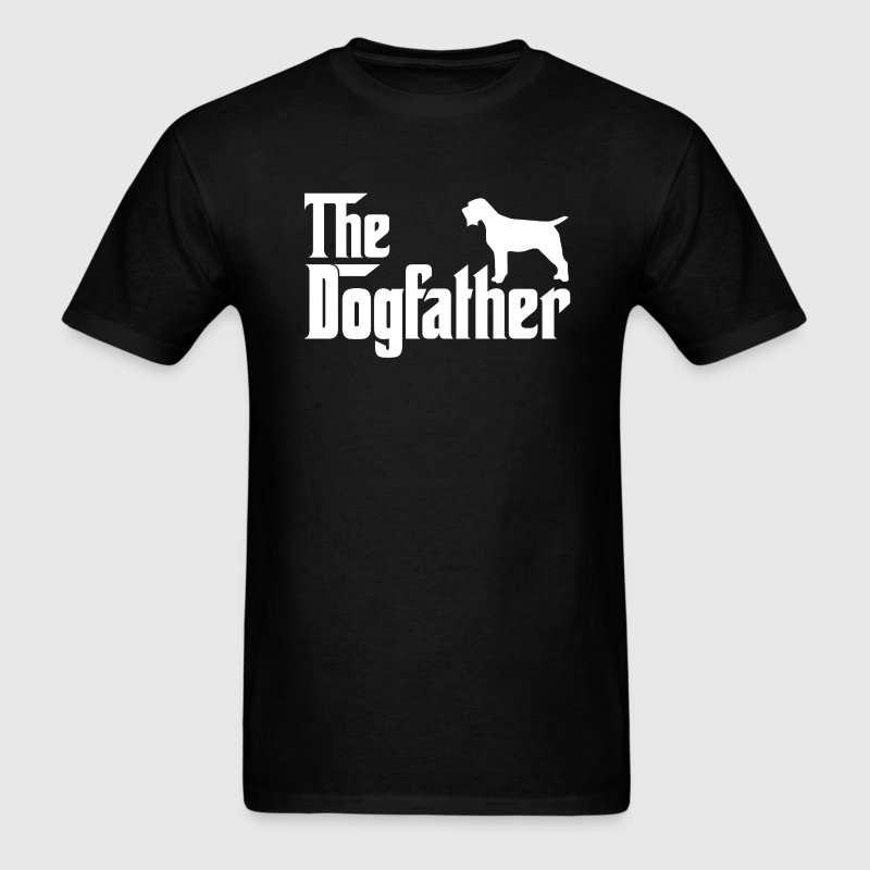 Wirehaired Pointing Griffon DogFather T-Shirt T-Shirts - Men's T-Shirt