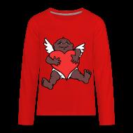 African Cupid Valentines Shirts   Kidu0027s Longsleeve   Kidsu0027 Premium Long  Sleeve T Shirt