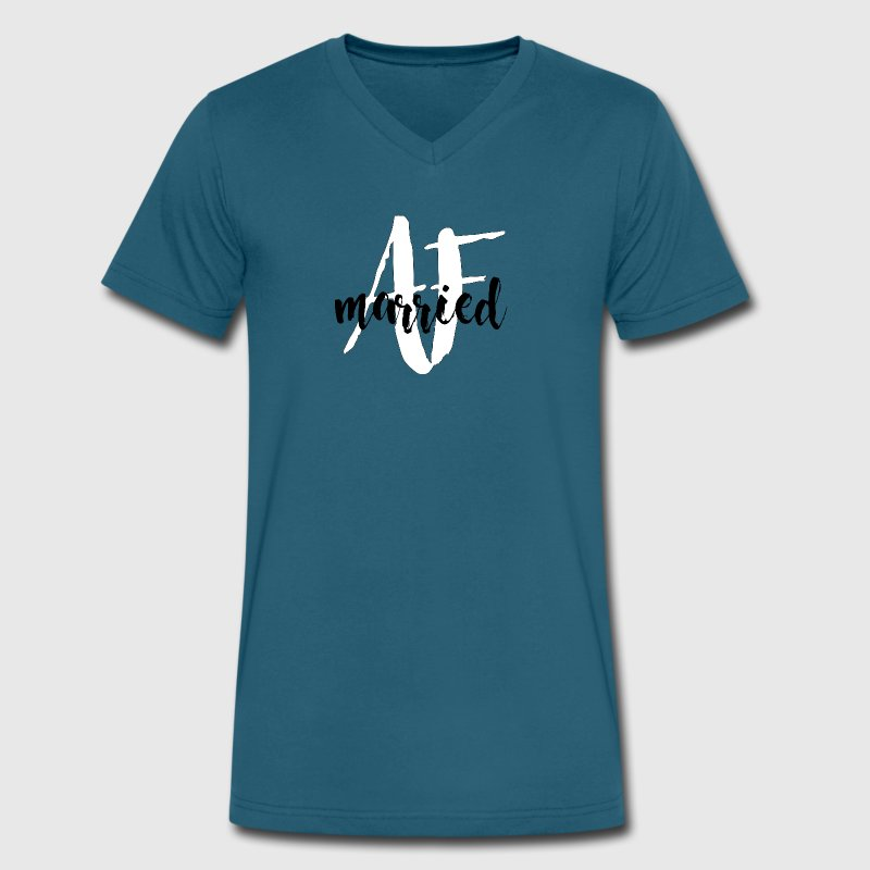 Married AF (as f*ck) Men's V-Neck Shirt - Men's V-Neck T-Shirt by Canvas