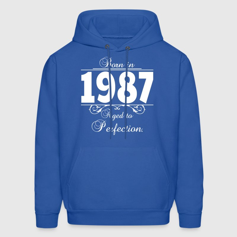Born in Age 1987 birthday Hoodies - Men's Hoodie