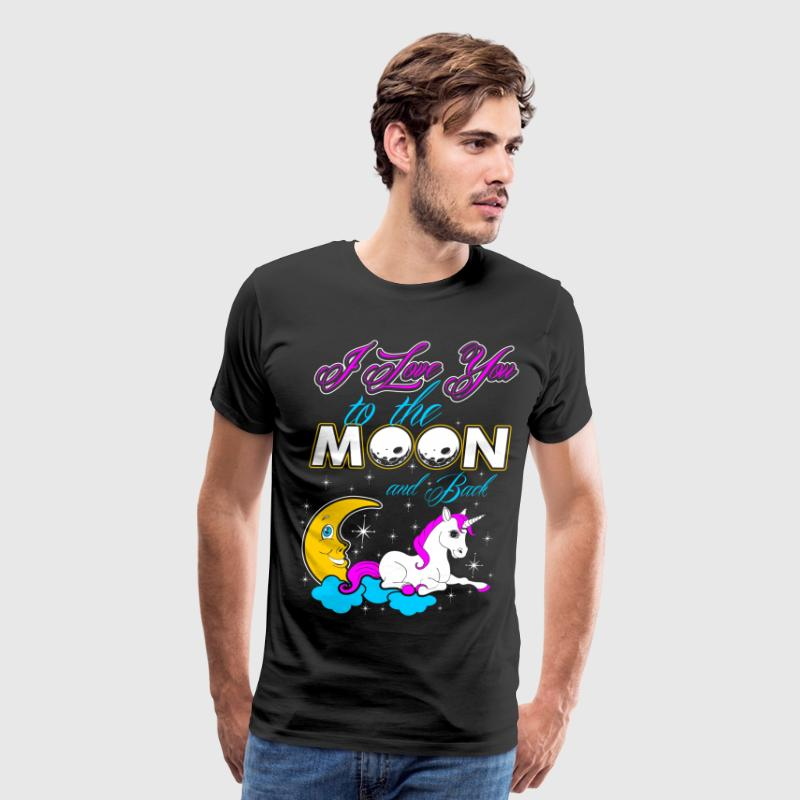 I Love You To The Moon And Back Unicorn T-Shirts - Men's Premium T-Shirt