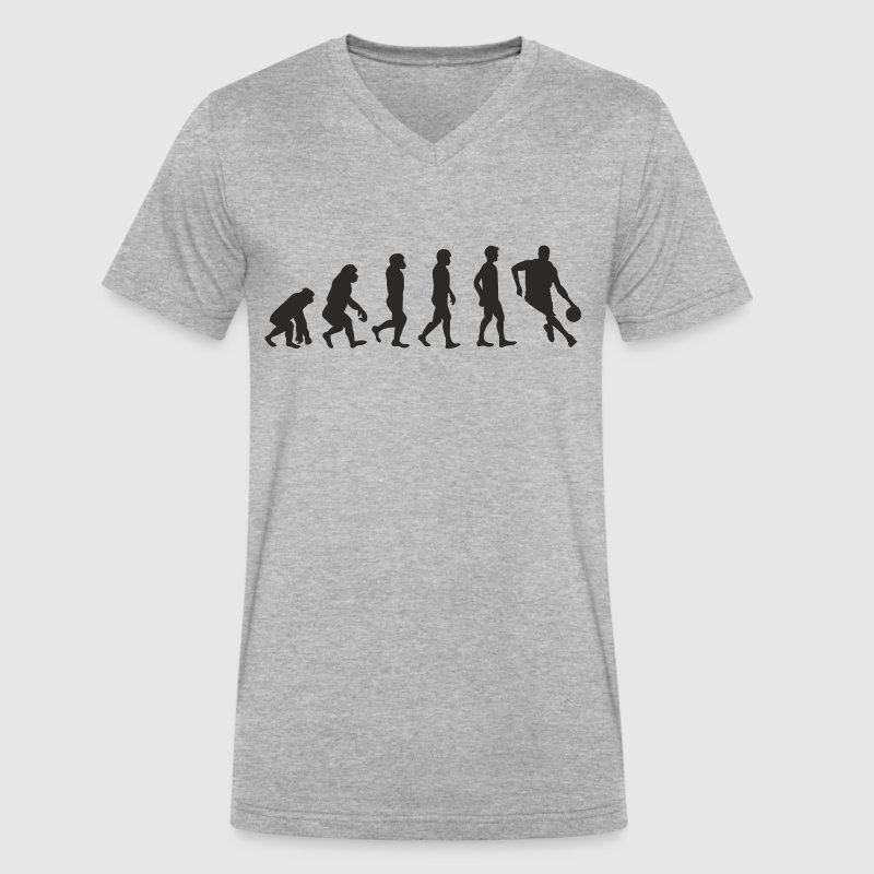 Evolution Basketball T-Shirts - Men's V-Neck T-Shirt by Canvas