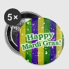 Happy Mardi Gras - Small Buttons