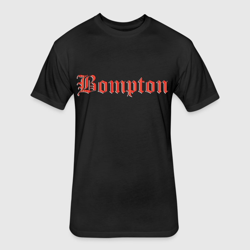 Bompton red T-Shirts - Fitted Cotton/Poly T-Shirt by Next Level