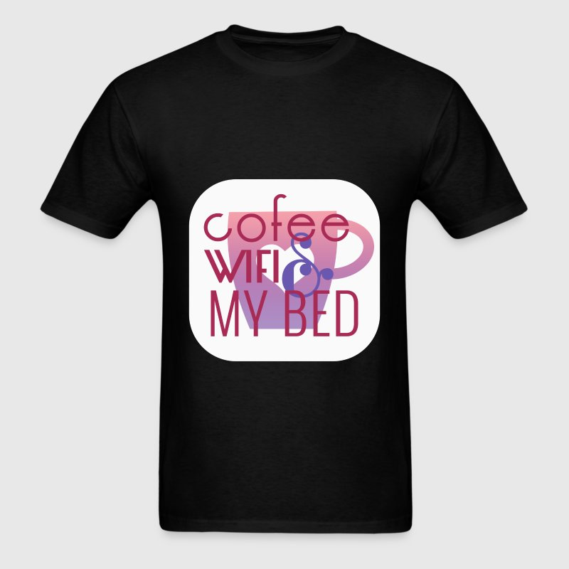Funny - Coffee WIFI & My bed - Men's T-Shirt