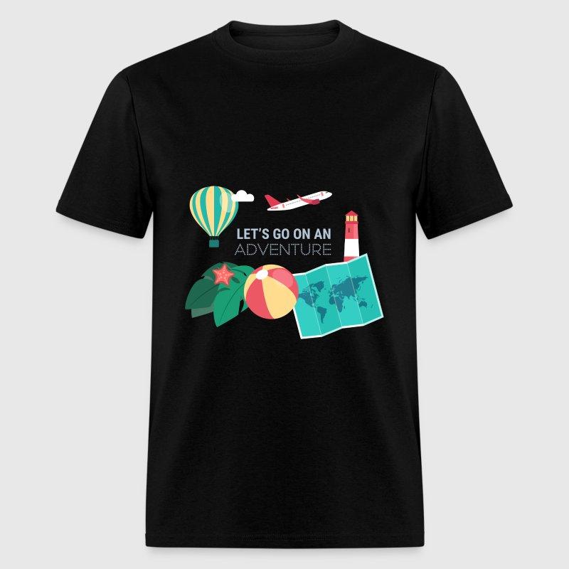 Travel let 39 s go on an adventure t shirt spreadshirt for Travel t shirt design ideas