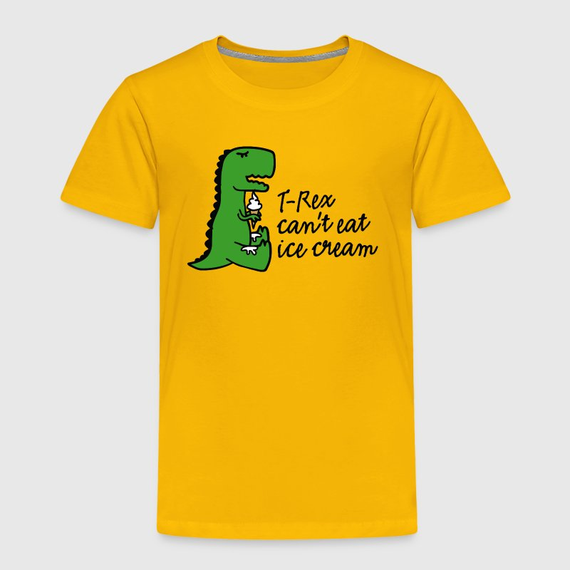 T-rex can't eat ice cream Baby & Toddler Shirts - Toddler Premium T-Shirt