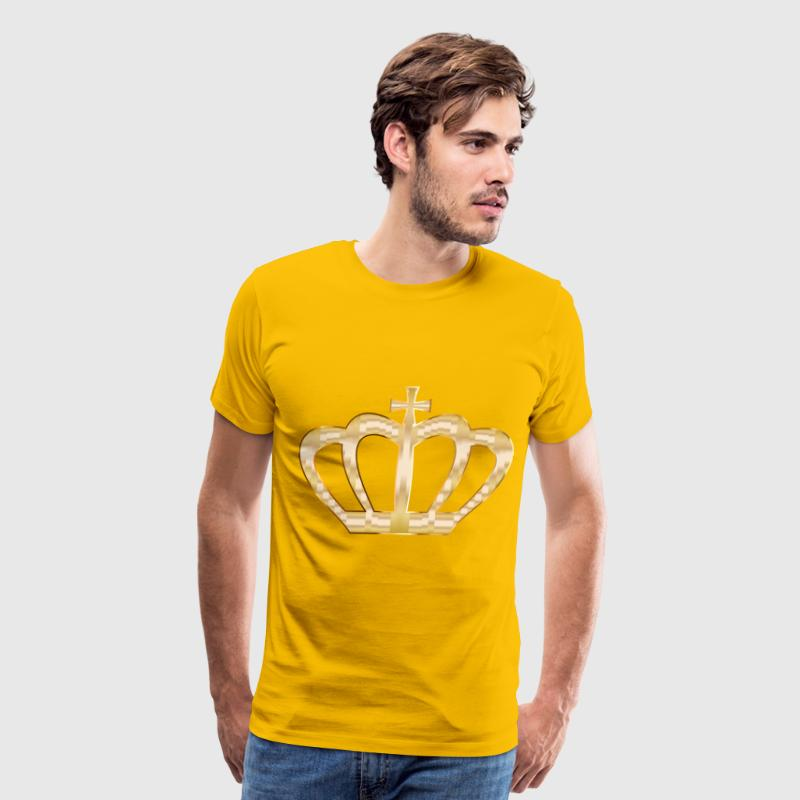 Gold Crown Silhouette 2 No Background - Men's Premium T-Shirt