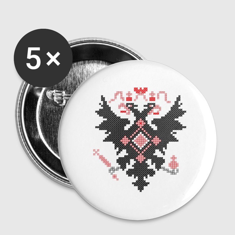 Cross-stitch RUSSIAN IMPERIAL TWO-HEADED EAGLE Buttons - Large Buttons