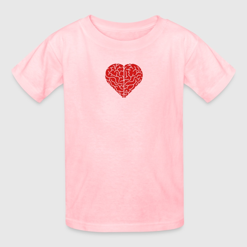 Lovely heart shaped brain Kids' Shirts - Kids' T-Shirt