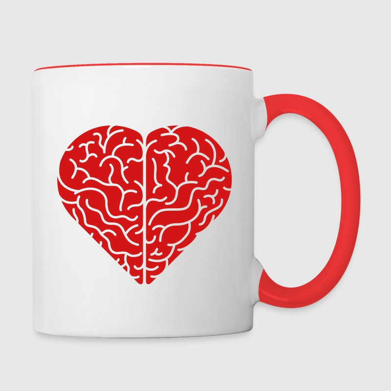 Lovely heart shaped brain Mugs & Drinkware - Contrast Coffee Mug