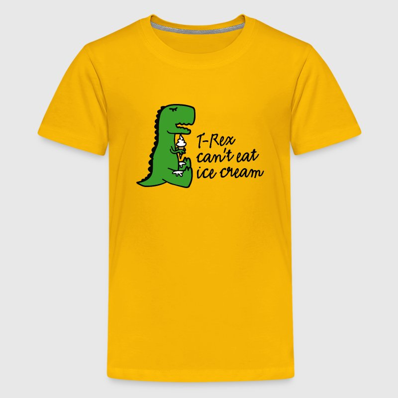 T-rex can't eat ice cream Kids' Shirts - Kids' Premium T-Shirt