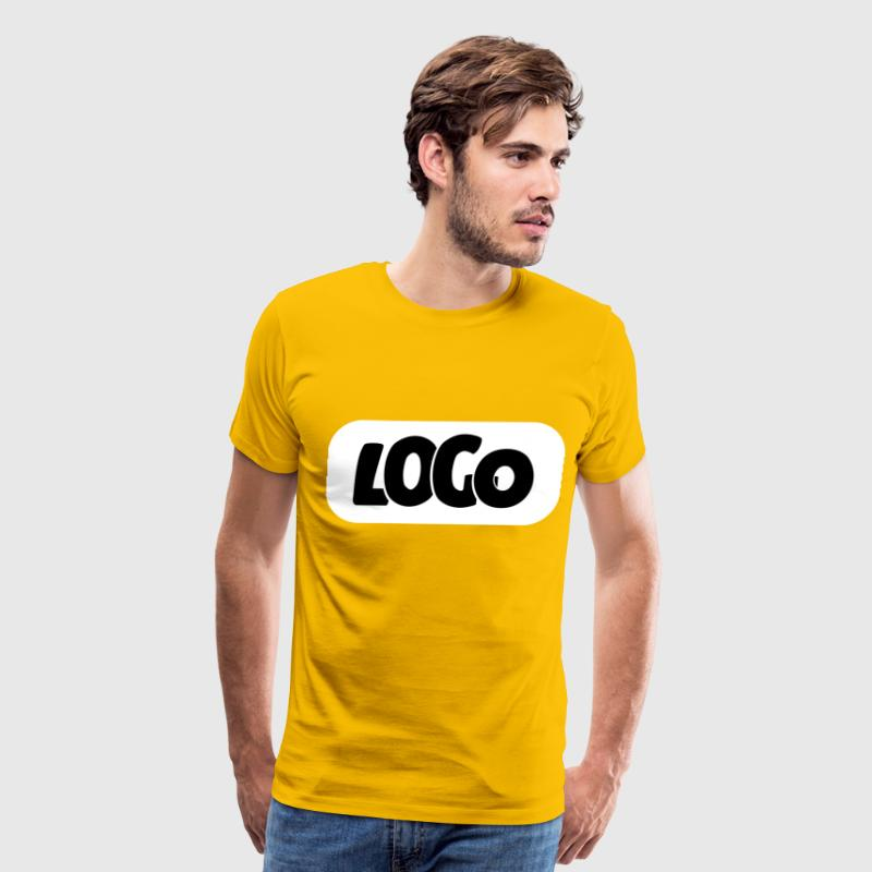 Logo Logo Black on White Background - Men's Premium T-Shirt