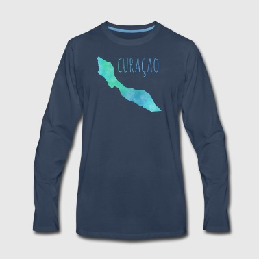 Curacao T-Shirts - Men's Premium Long Sleeve T-Shirt