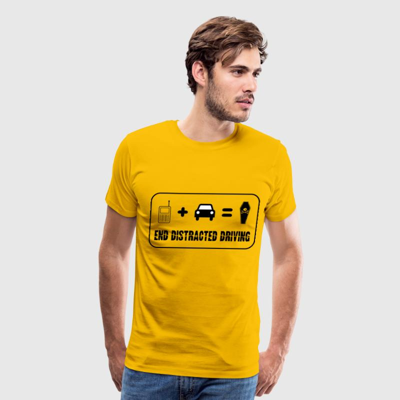 End Distracted Driving - Men's Premium T-Shirt