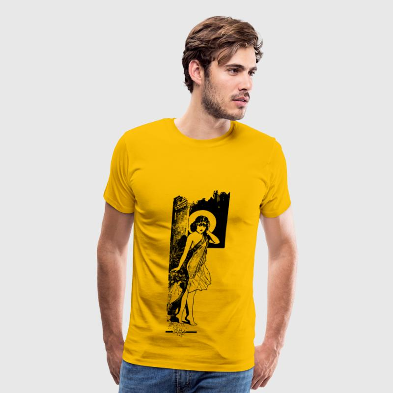 Sexy Lady Standing - Men's Premium T-Shirt