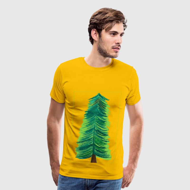 Transparent Background Christmas Tree COLOR - Men's Premium T-Shirt