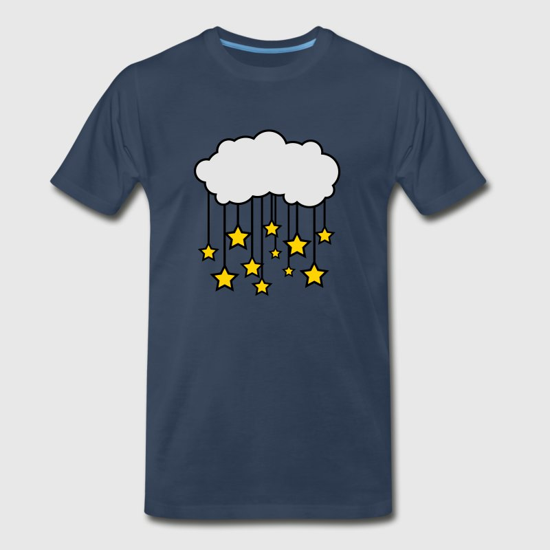 Starry Night with Clouds and Stars T-Shirts - Men's Premium T-Shirt