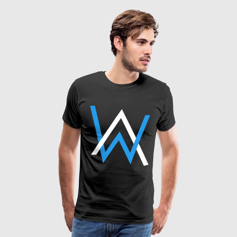 alan walker white blue - Men's Premium T-Shirt