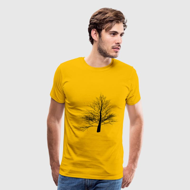 Thin Branched Tree Silhouette - Men's Premium T-Shirt