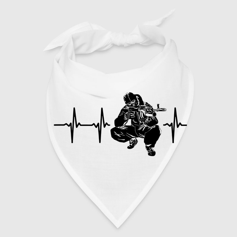 My heart beats for sniper Caps - Bandana