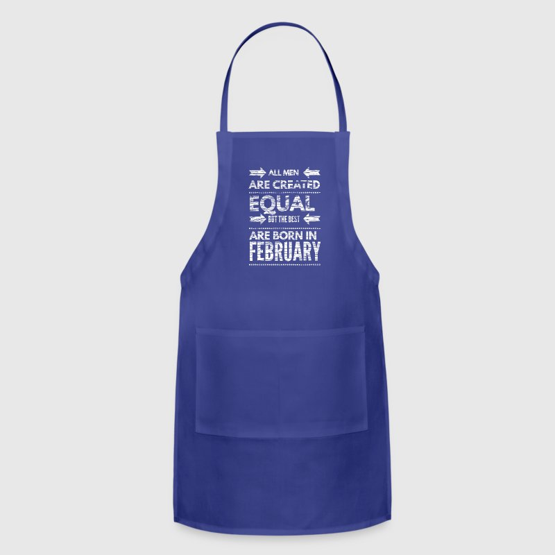 Funny birthday quote best men born in february  Aprons - Adjustable Apron