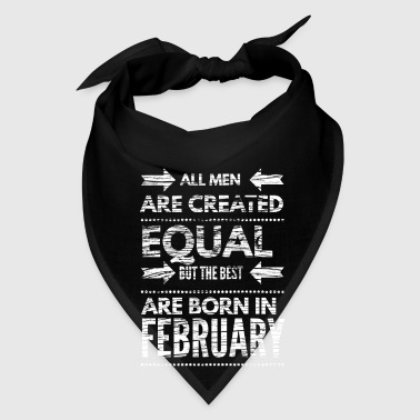 Funny birthday quote best men born in february  Aprons - Bandana