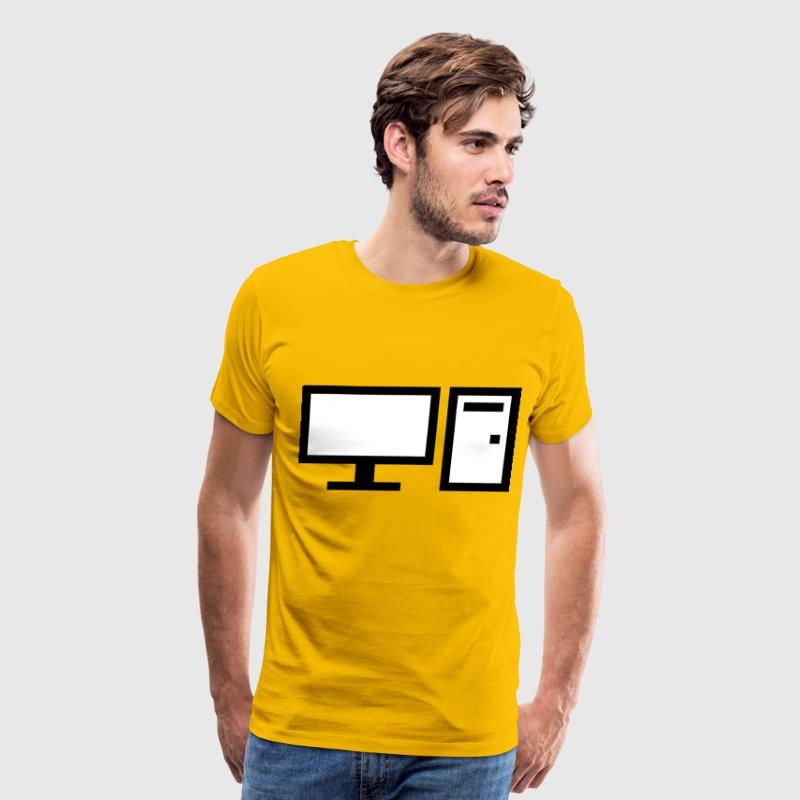 Minimal Desktop Computer With Optical Drive and Po - Men's Premium T-Shirt