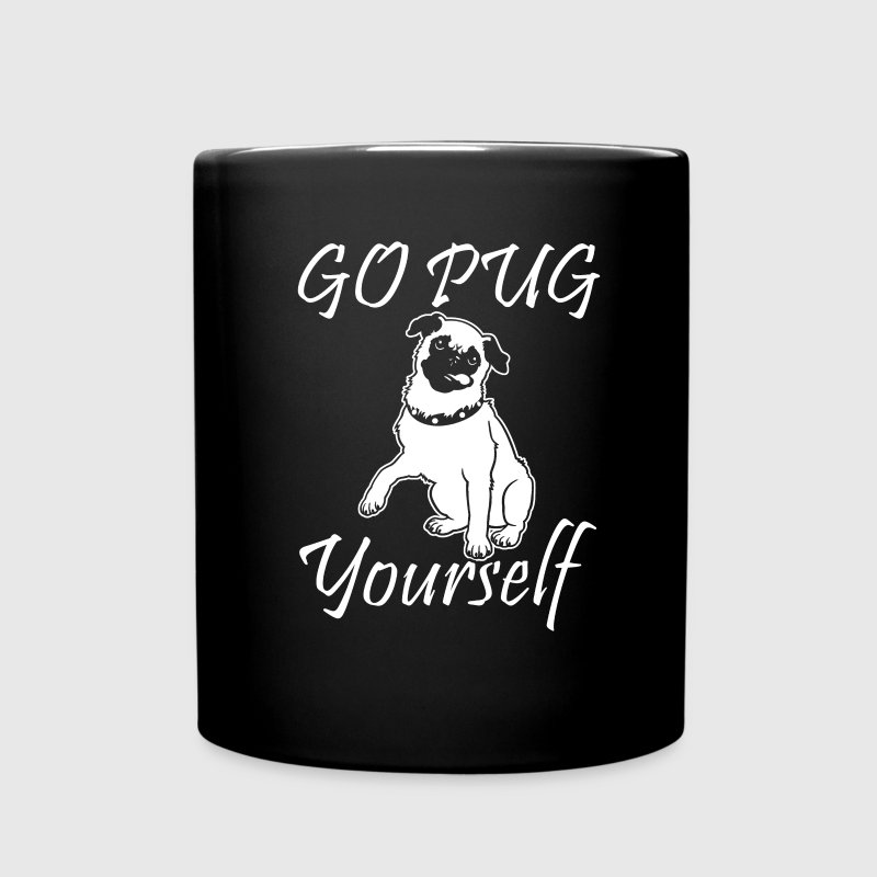 Go Pug Yourself Mugs & Drinkware - Full Color Mug
