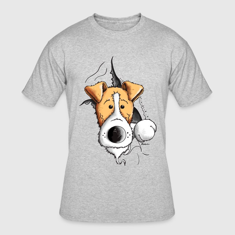 Finn The Fox Terrier T-Shirts - Men's 50/50 T-Shirt