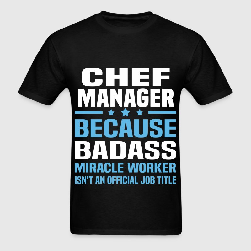 Chef Manager Tshirt - Men's T-Shirt