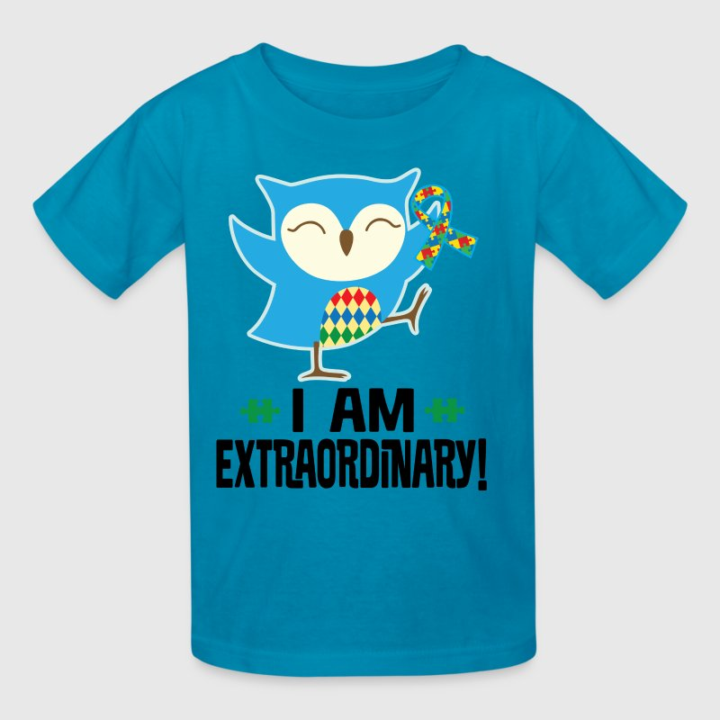 Autism Awareness Ribbon Support Owl Kids' Shirts - Kids' T-Shirt