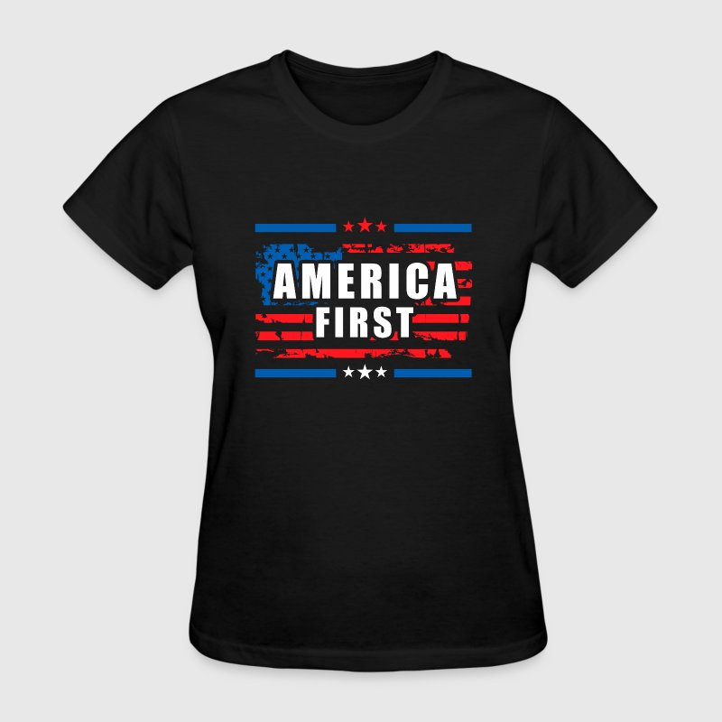 America First - President Donald Trump - Patriot 1 T-Shirts - Women's T-Shirt