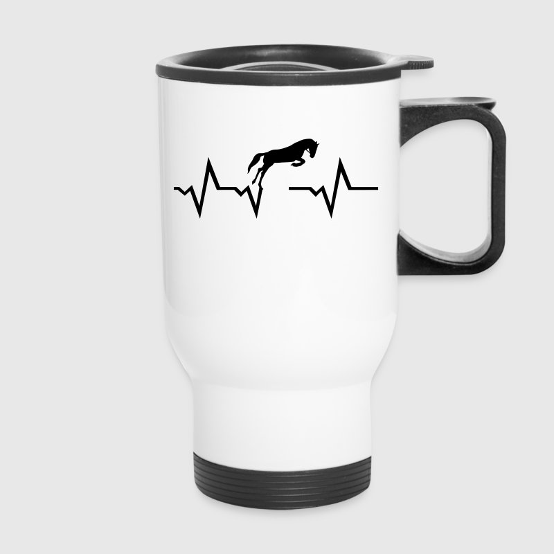 Horse heartbeat Mugs & Drinkware - Travel Mug