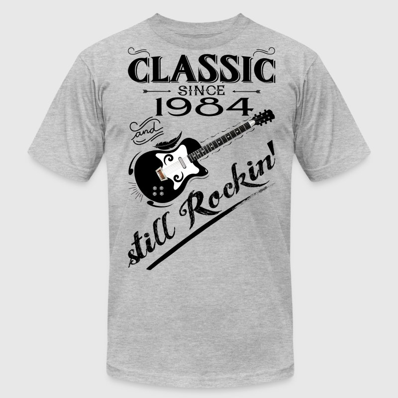 Classic Since 1984-Still Rockin' T-Shirts - Men's T-Shirt by American Apparel