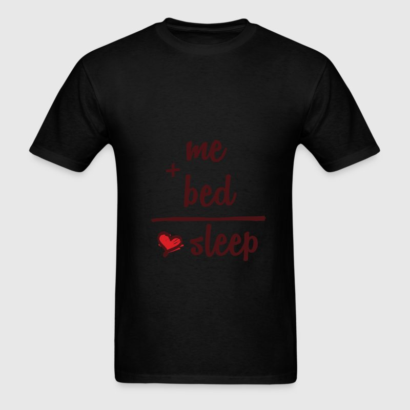 Sleeping - me + bed = sleep - Men's T-Shirt